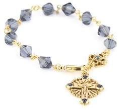 """The Vatican Library Collection Windows To Heaven Rosary Bracelet The Vatican Library Collection. $32.00. Chain measures: 7""""L X 1/4""""W"""