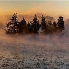 Sunrise on Lake Saimaa