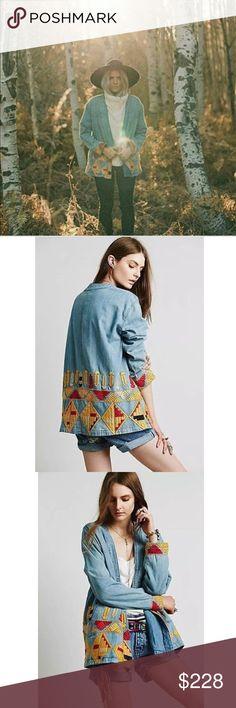eba8490867  228 Free People Peruvian Swing Jacket NWOT Retail   228 Size  Small  Lightweight