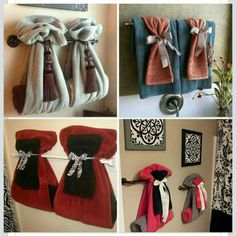 Ways To Decorate The Towel Racks In Your Bathroom Upstairs - Bathroom towel arrangement ideas