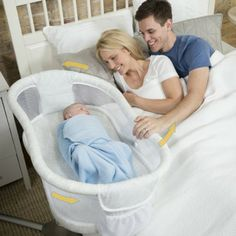 The HALO Bassinest Swivel Sleeper rotates 360 degrees for the ultimate in convenience and safety. Featuring mesh walls for breathability and a side wall that lowers and returns automatically, the baby bassinet allows you to tend to your baby while you are still in bed for superior convenience.