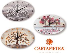 #Cartapietra propone l'originale forma ovale sugli #orologi da parete. bit.ly/1crMbFz #Orologio #Casa #Arredo