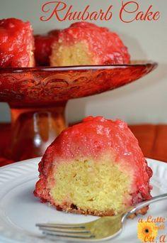 Rhubarb Cake… tasty and very fun to bake as the layers flip while baking! Rhubarb Cake… tasty and very fun to bake as the layers flip while baking! Rhubarb Desserts, Rhubarb Cake, Köstliche Desserts, Delicious Desserts, Cooking Rhubarb, Rhubarb Crunch, Yummy Treats, Fruit Recipes, Cake Recipes