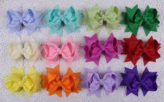 "Wholesale 12pcs girl baby toddler kids 3""boutique Hair Bows Grosgrain ribbon 355 #MyOwnUniqueDesign"