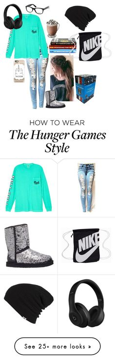 """""""Untitled #252"""" by fabulous-k-in-the-house on Polyvore featuring Victoria's Secret, UGG Australia, Ray-Ban, NIKE, Casetify, Beats by Dr. Dre and Vans"""