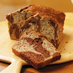 Marbled-Chocolate Banana Bread - The Best Banana Bread Recipes - Cooking Light