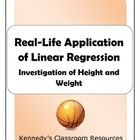 Many linear regression problems give students a table filled in with data. In this activity, students will collect their own data. They will use th...