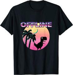 Offline Ästhetische Vaporwave lustig Urlaub retro dinosiurs T-Shirt: Amazon.de: Bekleidung Amazon T Shirt, Vaporwave, Shirt Price, Retro, 90s Fashion, Funny Tshirts, Japanese, This Or That Questions, Chemises Cool