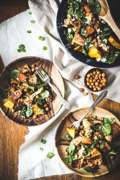 Moroccan roasted vegetable salad with crispy chickpeas - to her core