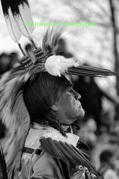 Old Native American Indian Man True Black by AthanatosPhotography