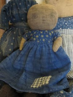 Primitive Rag Doll Early Blue Calico.