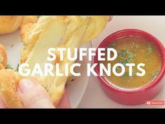 Stuffed Garlic Knots Recipe   Crunchy Creamy Sweet - YouTube