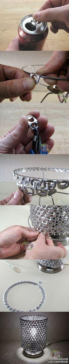 Metallgeflecht aus Getränkedosenöffnern