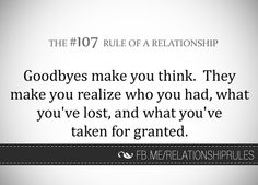 Goodbyes make you think. They make you realise who you had, what you've lost, and what you've taken for granted.
