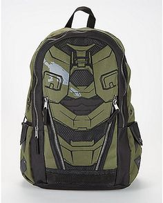 ed76ec54cd59 Black and Olive Halo Backpack - Spencer s
