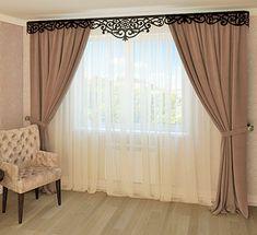 Фигурный ламбрекен для гостиной Living Room Decor Curtains, Home Curtains, Home Decor Hooks, Home Decor Accessories, Curtain Designs For Bedroom, Rideaux Design, Classic Curtains, Room Partition Designs, Luxury Curtains