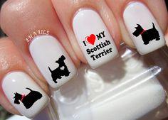 50 Scottish Terrier Nail Decals