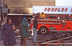 In DC, the results of the riots after Dr. Martin Luther King's assassination