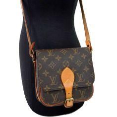 Authentic! LOUIS VUITTON Monogram CARTOUCHIERE PM LV Vintage Shoulder Bag M51254 #LouisVuitton #ShoulderBag