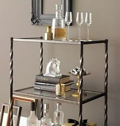 Classic Chic Home: 20 Beautiful Bar Carts for Holiday Entertaining