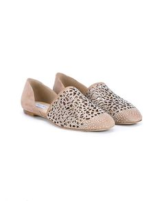 Globe Flat Ballet Pink Laser Perforated Suede Flats With Hotfix Crystals,  Eude. Designer SandalsWomen's Shoes ...