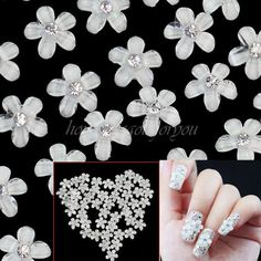 Great for both professional nail specialists or nail art learners. Stylish flower design, make your nails look beautiful and elegant. Nail Art Rhinestones, Glitter Nail Art, Nail Art Hacks, Nail Art Diy, Acrylic Nail Brush, Acrylic Tips, Dry Nails, Glue On Nails, Flower Nail Designs