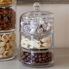 Small Glass Stacking Jar