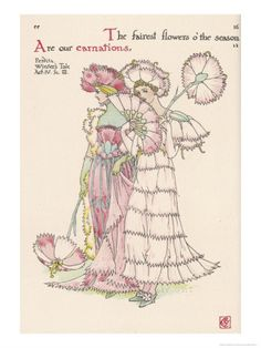 Carnations Personified    by Walter Crane Item #: 1863404