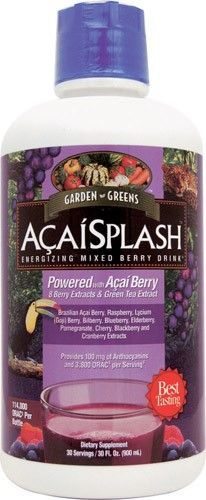 Garden Greens AcaiSplash -- 30 fl oz, Red