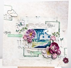 Lots of papers, stamps and flowers from Papirdesign