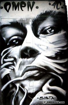 © Omen @omen514 #streetart #omen #montreal UnderPressure 2009