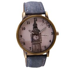 Quartz Watches For Retro Clock Tower Wrist Watch Cowboy Leather Band Analog Ladies Bracelet Watch Relogio Masculino #women, #men, #hats, #watches, #belts