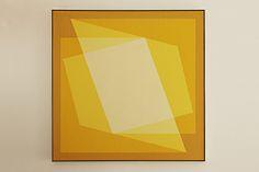 Julian Stanczak, Sharing In Yellow, 1970