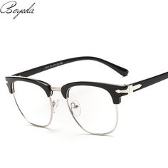 Brand Half Frame Male Eyeglasses Women Spring Leg Vintage Men Eye Glasses Frame Optical Spectacle Frame Prescription Eyewear Like it? Get it here