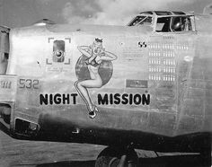 """B-24 Liberator Bomber """"Night Mission"""" - my grandfather's plane in WWII."""