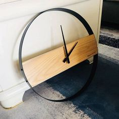 Wood wall clock Living room minimalist wood clock Creative fashion clock Modern minimalist table Wall clocks - 2020 Home Decor Trends Living Room Clocks, Living Room Decor, Living Rooms, Clock Decor, Clock Wall, Diy Clock, Wall Decor, Mens Room Decor, Wood Packaging