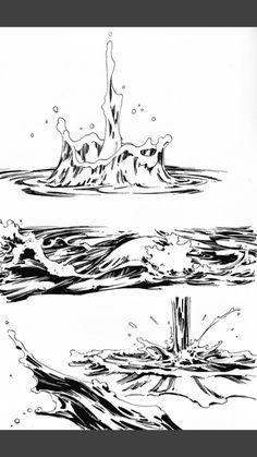Art reference Nail Desing m&m nail design lublin Water Drawing, Manga Drawing, Manga Art, Drawing Sketches, Art Drawings, Animation Reference, Drawing Reference Poses, Drawing Skills, Drawing Techniques