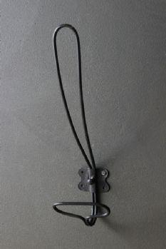 Tall Simple Metal Coat Hook - Black