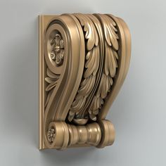 model for CNC routers and printers (art. Dremel Carving, Wood Carving, Wooden Corbels, 3d Models, Cnc Router, Commercial Interiors, Amazing Architecture, Swirls, Furniture Decor