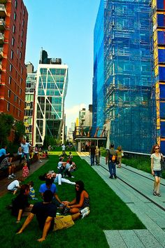 The High Line is a reclaimed and redeveloped elevated railway line that is now a highly artistic alternative park in NYC.  Our students had a faculty-led tour Aug. 2013.