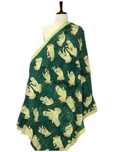Green Mudras Cotton Kalamkari Dupatta