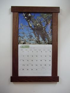 walnut calendar frame by deezsticks