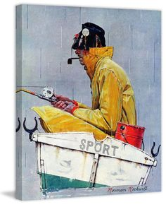 Marmont Hill Sport Saturday Evening Post Cover Norman Rockwell Painting Print on 29 x 24 Home Decor Wall Decor Canvas Art