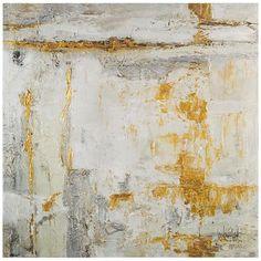 John Richard Large White Gold Artwork