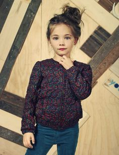 Sweet printed bomber jacket, another key kids fashion trend for fall 2014 at American Outfitters