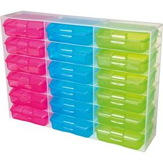Sistema Klipo Organisers 200ml Assorted Colours - Mitre 10 Storage Shelves, Shelving, Organisers, Plastic Storage, Storage Solutions, Montessori, Cube, Colours, Crafts