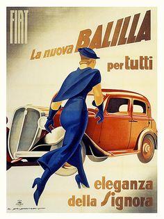 1934 Marcello DUDOVICH _ Fiat Balilla