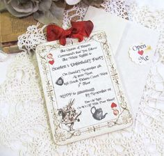 Alice Queen of Hearts Tea Party Customized Party Invitations