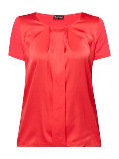 Bei ➧ P&C Blusenshirts von TAIFUN ✓ Jetzt TAIFUN Blusenshirt mit Kontrastvorderseite in Rosé online kaufen ✓ 9776591