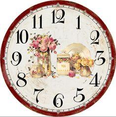 ru / Photo # 155 - Dials for decoupage hours. Vintage Prints, Vintage Art, Clock Printable, Clock Template, Decoupage Art, Easy Home Decor, Techno, Wallpaper, Clock Faces